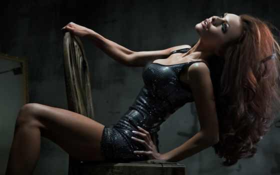 девушка, devushki, стуле, кресло, you, stockings, girls, сидит, листь,