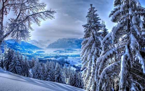 winter, mountains, снег, природа, white, великолепие, яркий, trees, страница,