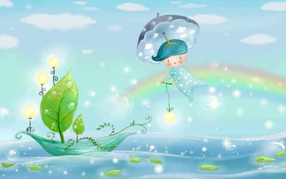 дождь, фотообои, зонтик, фотообоев, ideas, blue, об, patterns, город,