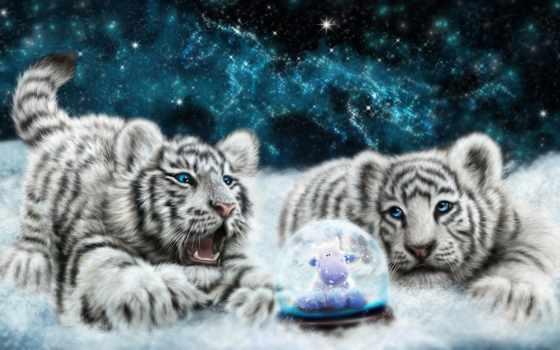 тигр, львенок, white, рисунок, песочница, animal, free, art
