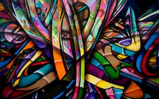 graffito, color, art, абстракция, graffiti, фон, red, сверкание, top, психоделика