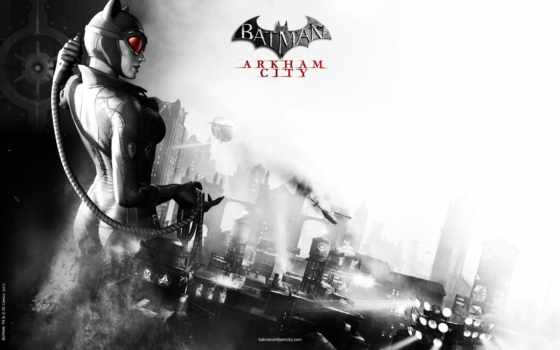 batman, arkham, город