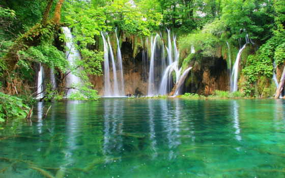 водопад, свой, правой