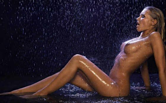 devushki, понравился, под, автор, дождем, девушка,