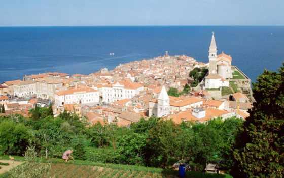 playas, февр, город, eslovenia, заставки, вася, красивые, smartphone,