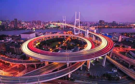 shanghai, мост, nanpu, город, pictures, china, река,