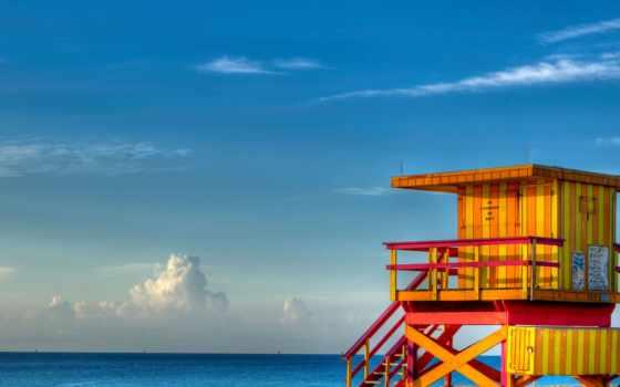 пляж, miami, desktop