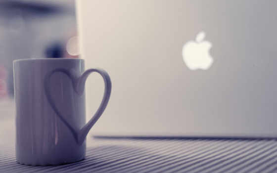 ноутбук, кружка, ноутбука, cup, apple, mac, макбук,