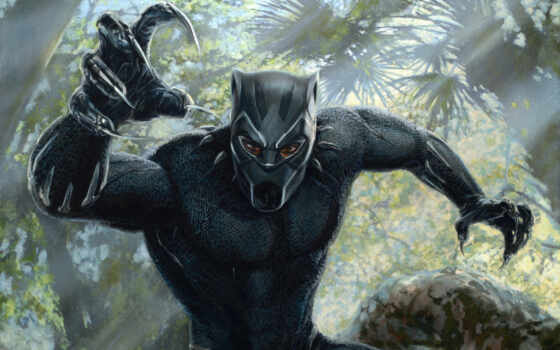 black, panther, widescreen