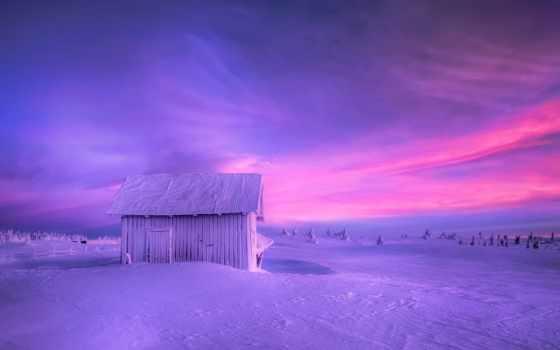 небо, winter, снег, картинка, природа, sun, norwegian, trees,