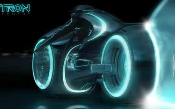 desktop, картинку, bike, cycle, трон, tron, legacy, установить, светоцикл,