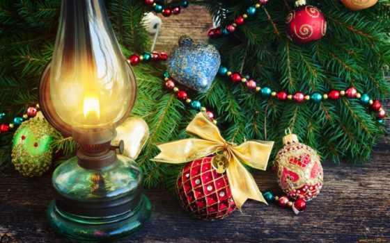 шарики, украшения, еловая, branch, нов, holidays, новогодние,