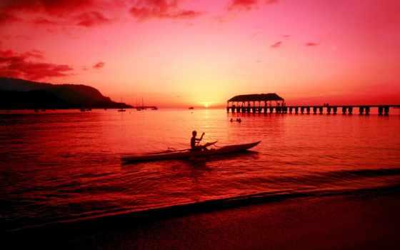 закат, пляж, магия
