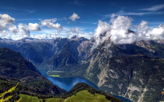 love, горы, königssee, пейзажи -, природы, река, schönau, прохождение, природа, creator,