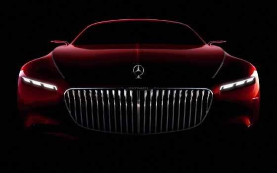 mercedes, maybach, vision, benz, coupe, красный,