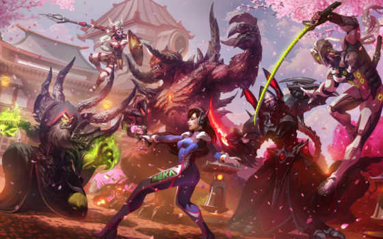 genji, heroes, overwatch, буря, cassia, hanamura, dva,