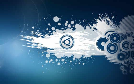 ubuntu, blue, white, широкоформатные, best, краска, высоком, streaks, круги,