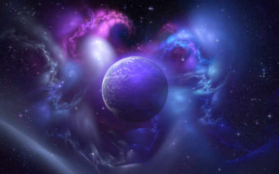 planet, galaxy, blue, universe, purple, background, tumblr, космос,