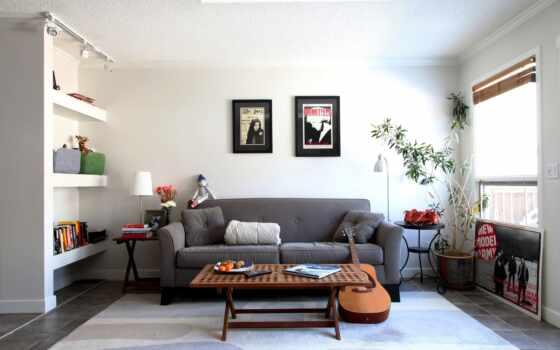 комната, интерьер, диван