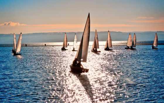 море, парусники, спорт