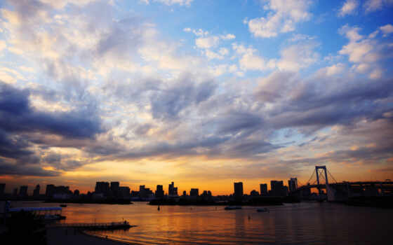 япония, tokyo, море