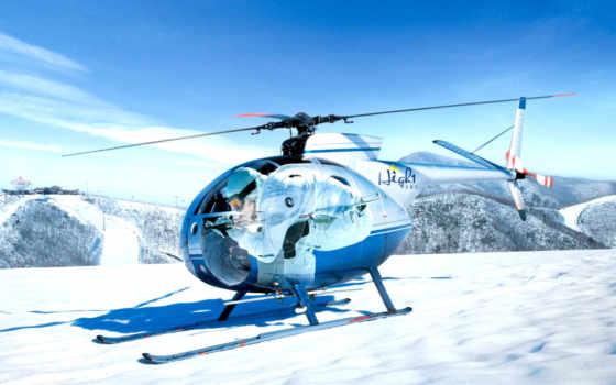 вертолет, авиация, anime