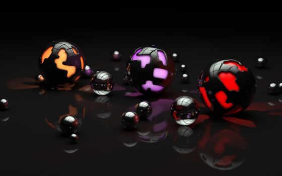 шары, свет, арт, поверхность, сферы, отражение, разные, sentiment, mechanical,