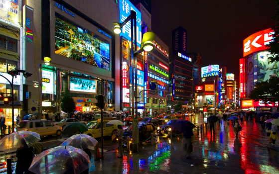 отражение, свет, мегаполис