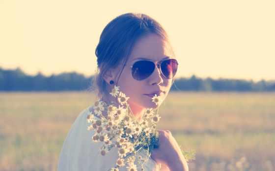 flowers, девушка,