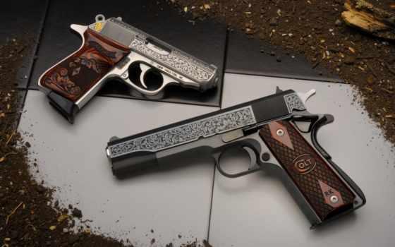 пистолеты, оружие, красивые, заставки, только, daily, пистолет, картинка,