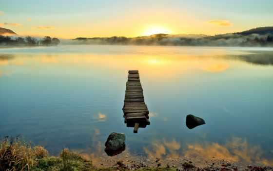 water, док, природа, lakes, pier, красивые, architecture, trees, landscapes, отражение, beaches,