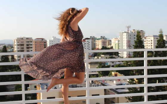 девушки, девушка, ветер