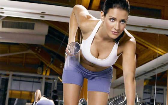 гантелями, упражнения, рук, proganteli, упражнений, накачать, плечи, гантелей,