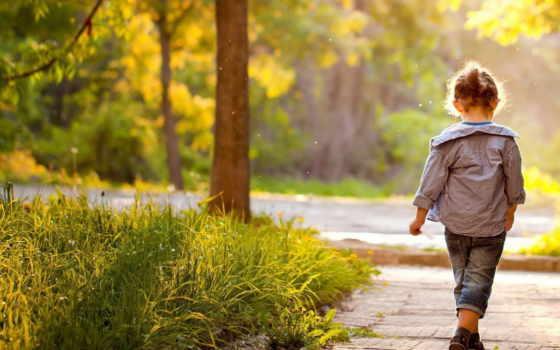 children, природа, девушка, ребенок, ситуации, park,