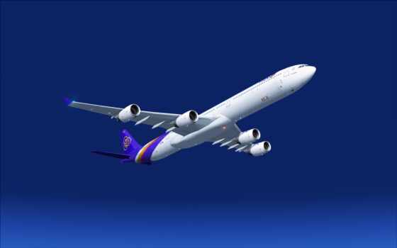 небо, самолёт, plane, airbus, airplane, полет