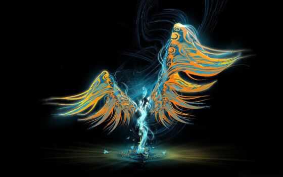 ангела, pattern, angel, свет, крыло, абстракция, drawing, human, abstract