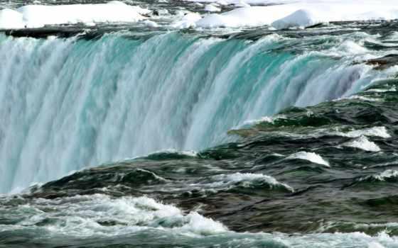 водопад, niagara, опубликовано, заставки, природа, winter, водопады, great, дымчатый,