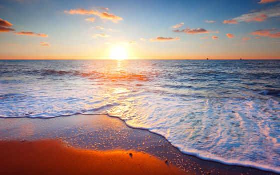 пляж, море, clouds, landscape, природа, пальмы, фоны, scene, заставки, страница,