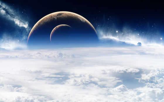 космос, облака