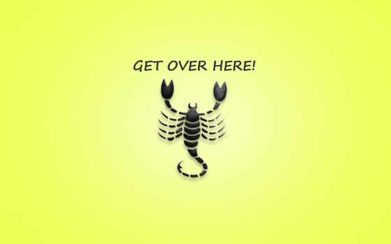 mortal, kombat, фраза, надпись, scorpion, get, here, over,