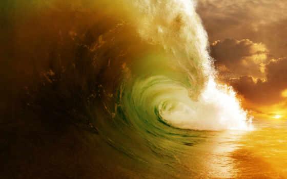 nature, море