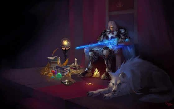 магия, кристалл, трон