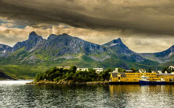 норвегия, природа, ipad