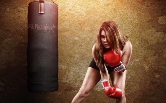 gallery, desktop, спорт, тренировочный, boxing, девушка,