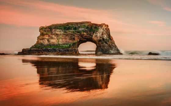 natural, state, санта, пляж, bridges, cruz, california, самый, more,