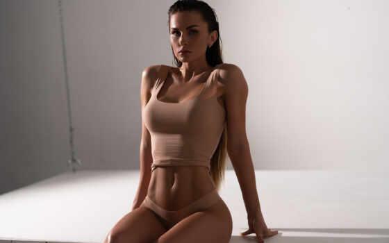 женщина,  белье, живот