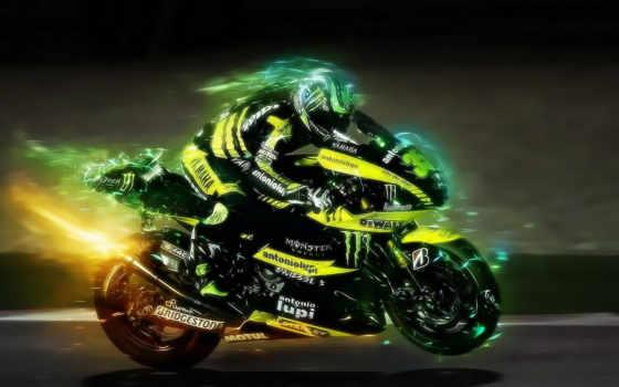жёлтый мотоцикл