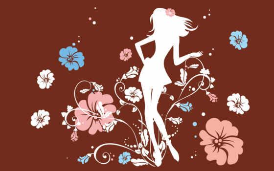 flower, girl