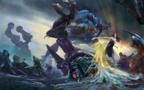 battle, fantasy, kunst