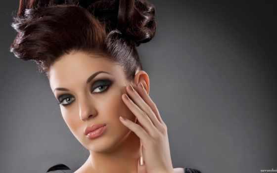 девушки, прическами, красивым, гламур, эффектными, молодые, привлекательные, очень, макияжем, элегантных, обаятельные, нарядах,
